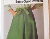 Simplicity 8151 - Womens Vintage Sewing Pattern - Back Wrap Skirt - Sizes 8-10-12, Waist 24-25-26 1/2, Uncut