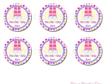 PRINTABLE Girl Pajama Party Favor Tags #563