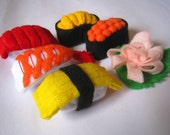 Felt food Sushi set eco friendly children's pretend felt play food for toy kitchen