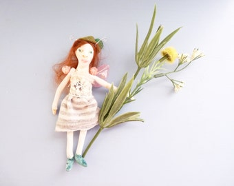 OOAK Fairy, Miniature Art Doll, 1 Inch Scale - Sprout