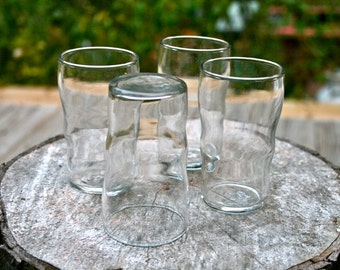 Vintage LIBBY Juice/Wine/Vase GLASSES Classic Tumblers 1970's DINER Set of 6
