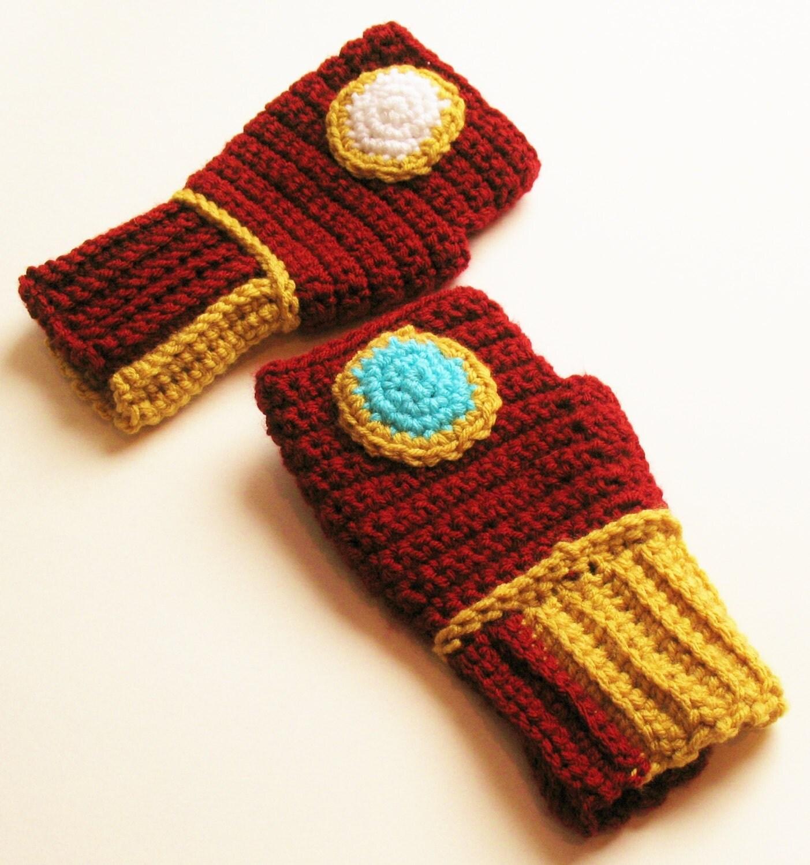 Iron Man Wristwarmers Fingerless Gloves Power Gauntlets