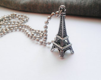 Eiffel Tower Necklace Eiffel Charm Tween Girl Gifts Teen Girl Gifts Travel Gift Sale Jewelry R1195