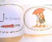 Vintage Tasha Tudor Book Illustrations, 1954, A is for Annabelle, ABC Book, Childs Alphabet