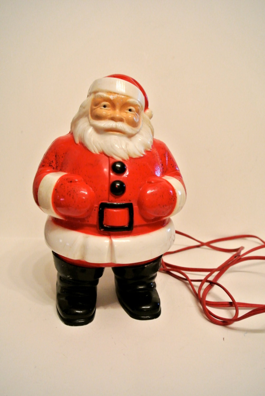 Rare vintage light up santa christmas decor