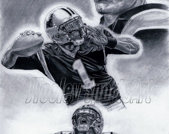 Carolina Panthers Cam Newton Art Poster