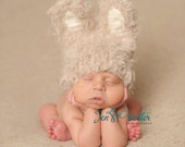 Easter Bunny baby hat... Newborn bunny hat..knit hat.. newborn prop.. easter prop.... photography prop..20% off with code VALEN1 at checkout