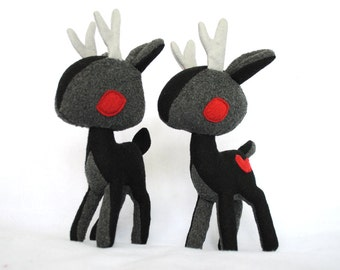 Nightmare Stag Black Deer Plush