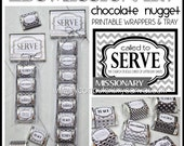 LDS MISSIONARY, Called to Serve Chocolate Nugget Wrappers, CANDY treat favor - Printable Instant Download
