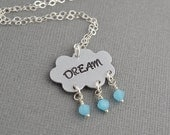 Dream Cloud Hand Stamped Necklace by The Copper Fox
