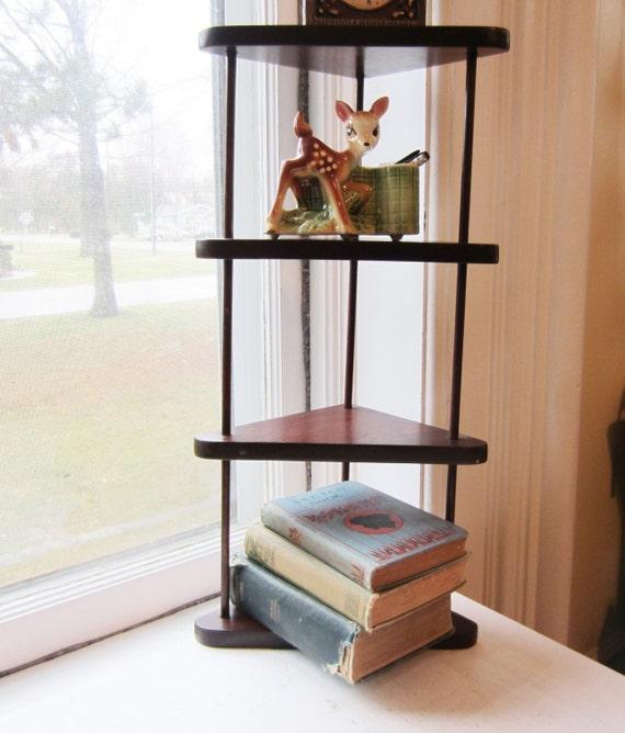 Vintage Corner Shelf Small Freestanding Shelf Wall Shelf