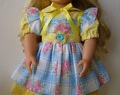 American Girl Sunshine Doll Dress and Apron for 18 inch dolls