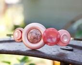 Pink Vintage Button Headband - Repurposed Vintage Components