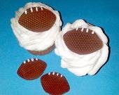 Fondant cupcake toppers mini Footballs Superbowl