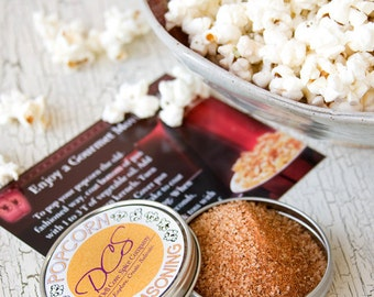 Popcorn seasonings - gourmet popcorn spices - flavored popcorn gift for foodies - try two flavors