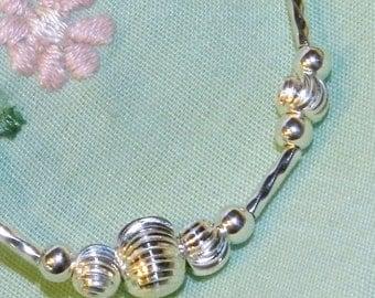 Baby Bracelet Solid Sterling Silver One of a Kind Heirloom Gift for Newborn Infant