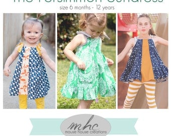 Persimmon Dress and Top:  PDF Pattern by Mouse House Creations