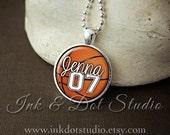 Personalized Basketball Necklace, Custom Basketball Pendant Necklace, Basketball Team Pendant, Basketball Mom