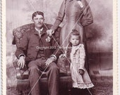 Vintage Photograph, Cabinet Photo of a lovelyEdwardian Family