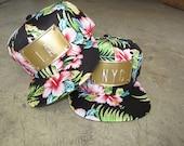 ROJAS tropical metal snapback custom hats socal la nyc nycan custom hawaii florals hawaiian flowers hawaiian print hat cali cap caps floral
