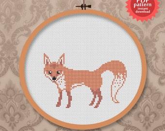 Cute fox - PDF Cross stitch pattern