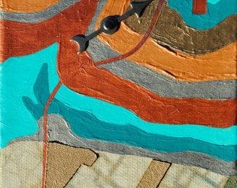 Formlines, mixed-media/acrylic on canvas, map art