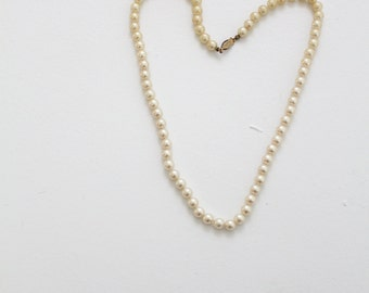 1960s faux pearls by Sarah Coventry, vintage necklace