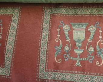 Vintage Upholstery Fabric French Country Cotton Tapestry Chair Pillow Cushion Furniture Floral Tapestry French Decor 132