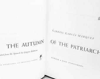 1st Edition Marquez - The Autumn of the Patriarch by Gabriel Garcia Marquez - rare book - first edition printing 1976