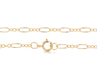 14Kt Gold Filled 5.6x2.6mm 16Inch Long and Short Cable Chain - 5pcs Made in USA 20% discounted lowest price (5537)/5
