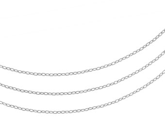 Sterling Silver 1.5 x 1mm Drawn Cable Chain - 20ft (2301-20)/1