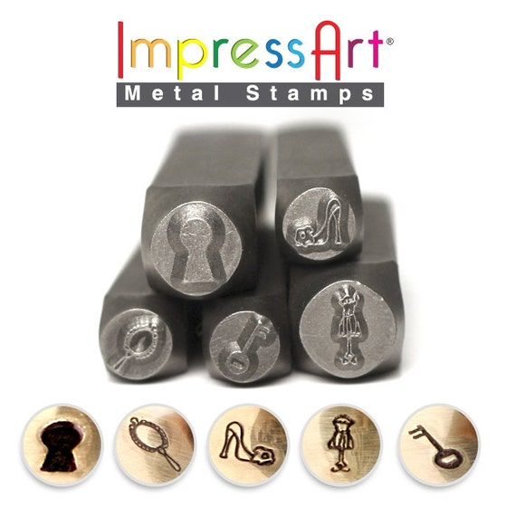 metal stamps impressart shabby chic stamp pack discounted