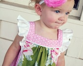 Sugar and Spice Dress and Top: Flutter Sleeve Dress Pattern, Girls Dress Pattern