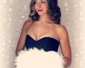 Handmuff Classic Snow White Ivory Faux Fur Hand Muff - Winter Christmas Wedding Satin Lined Hand warmer