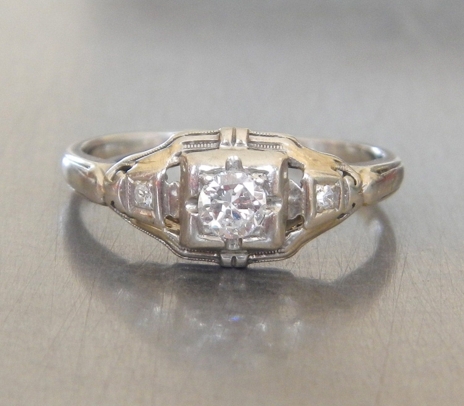 Art Deco Engagement Ring 1920s Engagement Ring Antique