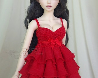 Red ruffle dress for MSD