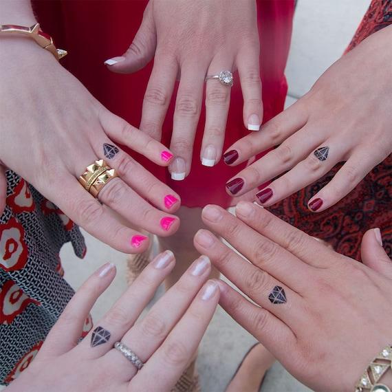 30 Diamond Temporary Tattoos- Diamond Engagement Ring Tattoo