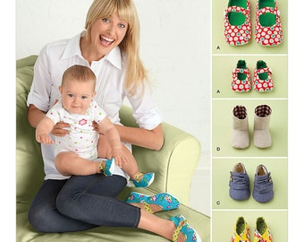 Baby Shoes and Booties Pattern Women Slippers Pattern Uncut Simplicity 2278 House Scuffs Slip Ons Mary Janes Accessories Sewing Patterns