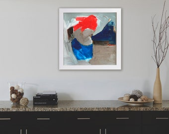 Giclée print, minimalist print,abstract painting, geometric painting, Wall art, acrylic abstract landscape, original painting on paper