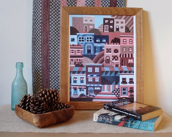 "Row Homes, South Philadelphia, Philadelphia Row Homes, 10"" x 13.5"" Poster"