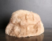 Vintage Blonde Mink Fur Hat
