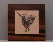 Rooster Clock, Reclaimed Wood, Kitchen Clock, Modern Clock