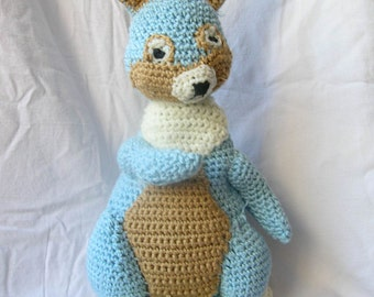 Crocheted toy stuffed bunny doll: the Bunny Cream PATTERN, .pdf, Instant download. SALE!