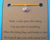 Pumpkin HALLOWEEN WISH STRING Bracelet Cord Color Choice