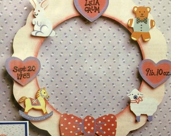 "Pop'N Paint  Nursery Wreath  8"" Round Wreath Vintage Bonus Projects Included Choose one"