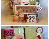 Christmas countdown Scrapbook Keepsake Album SALE