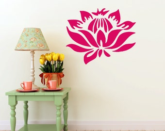 Lotus Flower vinyl Wall DECAL Art, sticker art, room, home and business decor
