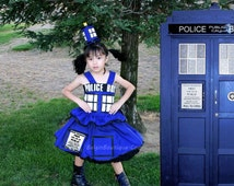Pageant OOC Tardis Dr Who Tardis dress Casual wear Natural wear - Custom order for norrississa1