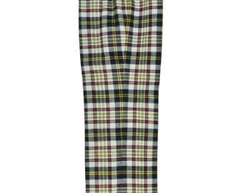 Size 4 / Small Women's White, Navy Blue, Red, and Yellow Lightweight Cotton Pants