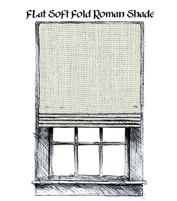 Flat Soft Fold Roman Shade Starting At By Maribelclaribel